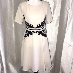 Adrianna Papell Appliqué Dress